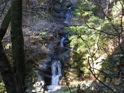 林道脇の滝