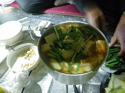 今日もキムチ鍋