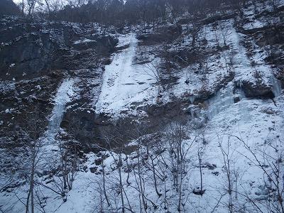 出合の氷瀑