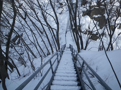 キレットの階段