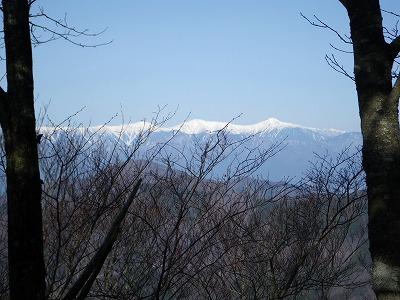 白峰三山が真っ白です