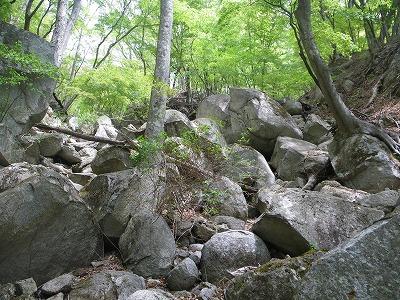 大岩のゴーロ帯