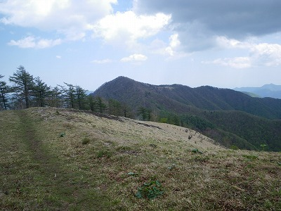 鷹ノ巣山がこの角度で見えるところから