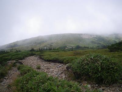 太郎山へ下る
