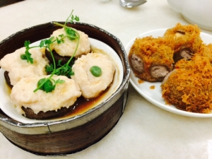 椎茸肉詰め&揚げ物