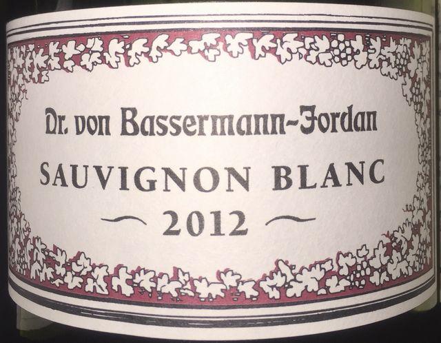 Dr von Bassermann Jordan Sauvignon Blanc 2012
