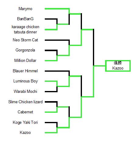 第13回倭国闘鶏大会トーナメント表