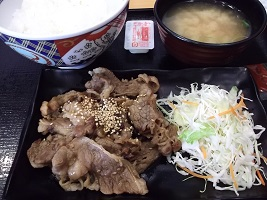 吉野家牛カルビ焼2015.6