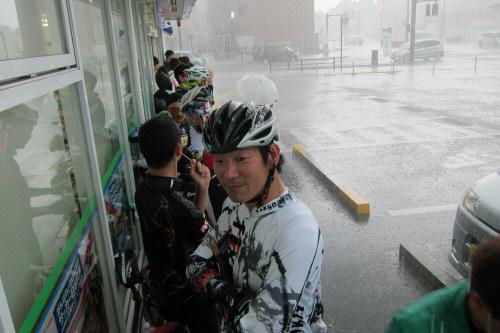 走行会ゲリラ豪雨