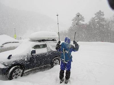 藻琴山キャンプ場P下山(冬)