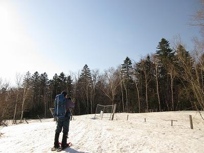 斜里岳(豊里)林道入り口鹿柵ゲート1