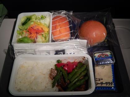 バンコク2015.4成田空港デルタ航空機内食