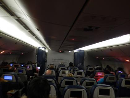 シンガポール2015.2デルタ航空シンガポール行