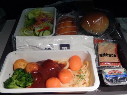 シンガポール2015.2デルタ航空シンガポール行機内食
