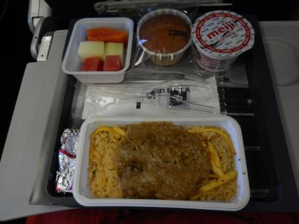 シンガポール2015.2デルタ航空成田行・機内食