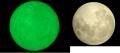 夜光石と月