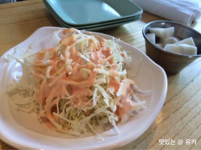 サラダ、大根酢漬け