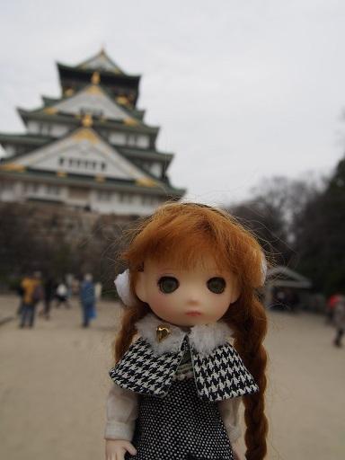 大阪城とミニコロ