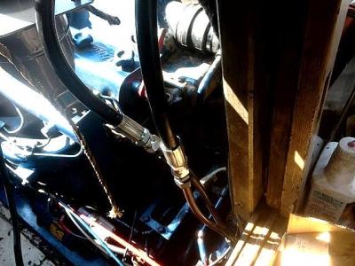 ヘルムポンプ 油圧 くい込み ホース変換