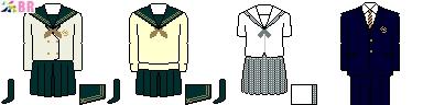 [福島]福島県立須賀川桐陽高等学校制服ドット絵