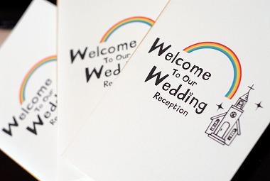 かわいいイラストウエルカムボード 結婚写真・記念写真を本当に