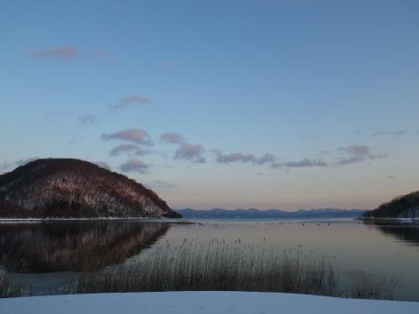 猪苗代湖モビレージ 夕暮れ