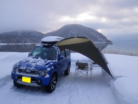 猪苗代湖モビレージ 雪
