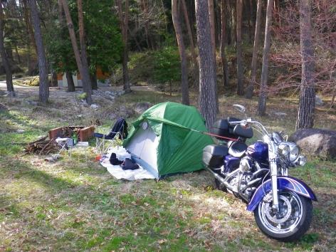 御座松キャンプ場 2015 サイト
