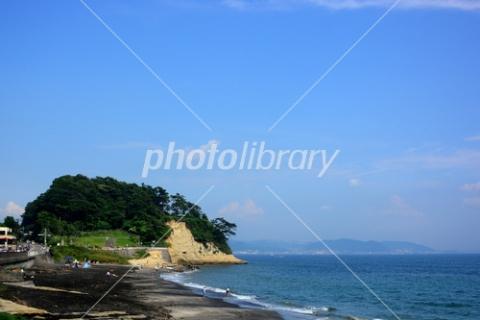 3751329 稲村ヶ崎と浜辺