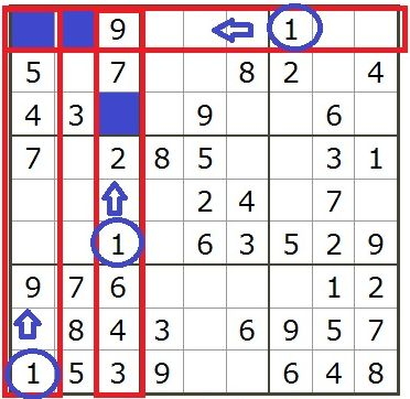 数独の解き方1-1