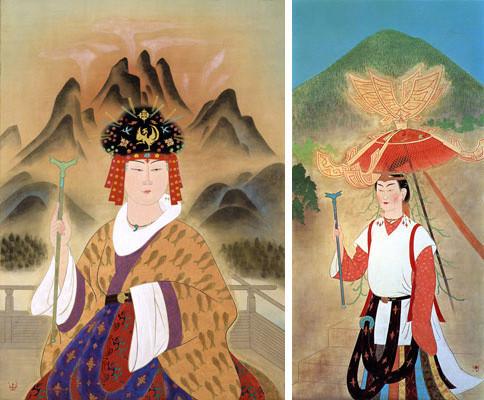 左側-卑弥呼-1968-右側-大和のヒミコ女王-1972