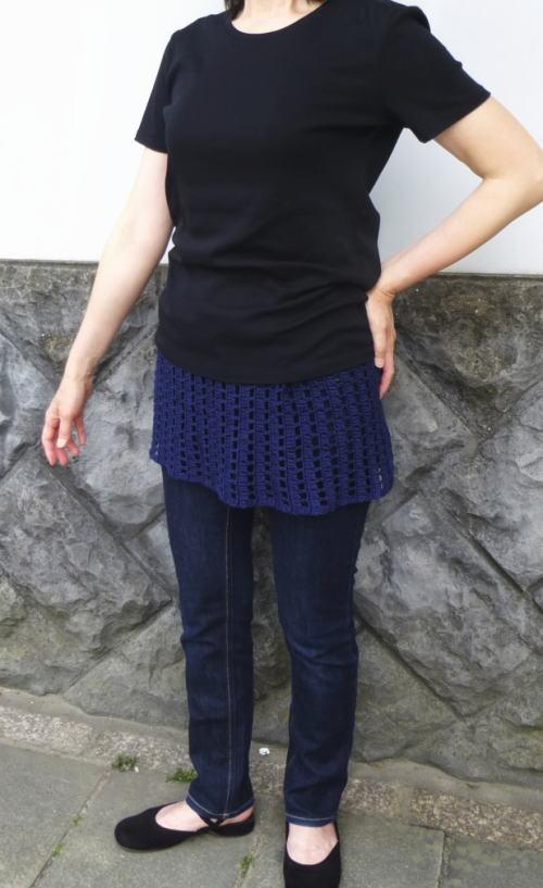 647スビンゴールドパレオ風スカート全体