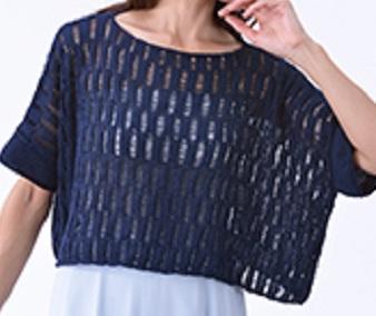 編み物キット棒針編みハマナカ作品ウォッシュコットンプル