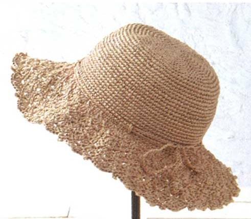 編み物キット帽子ハマナカエコアンダリヤシェル編みブリムの帽子カタログ