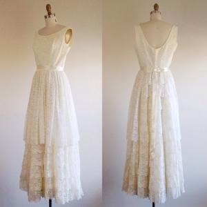 1960年代ビンテージウェディングドレス