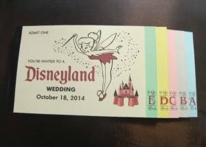 ディズニーパスポートブックレット結婚式招待状インビテーション
