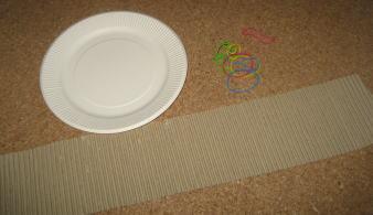 紙皿花太鼓 材料