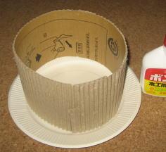 紙皿花太鼓 作り方1