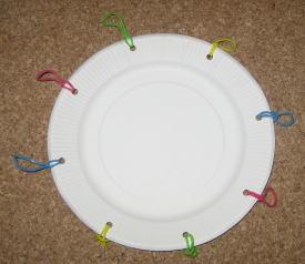 紙皿花太鼓 作り方3
