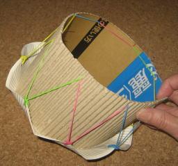紙皿花太鼓 作り方5