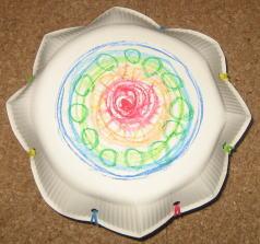 紙皿花太鼓 作り方6