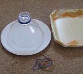 紙皿ペット太鼓 材料