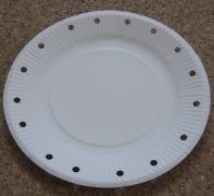 紙皿ペット太鼓 制作過程1