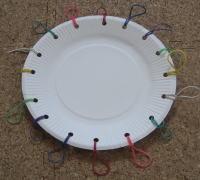 紙皿ペット太鼓 制作過程2