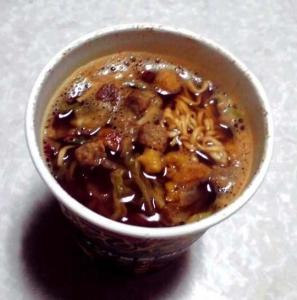 すこびる辛麺 インド風黒カレー味(できあがり)