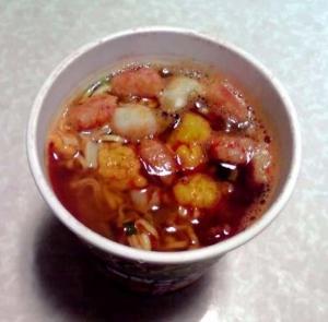 すこびる辛麺 海鮮チゲ味(できあがり)