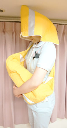 防災頭巾加工