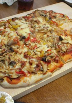 きのこいっぱいピザ。