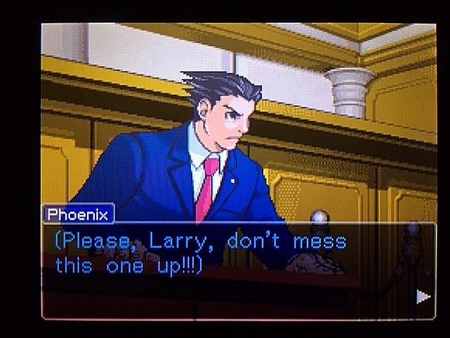 逆転裁判 北米版 ラリーの証言スタート5
