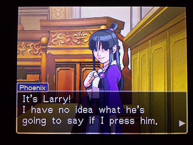 逆転裁判 北米版 ラリーの証言スタート18